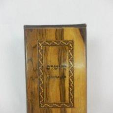 Antigüedades: JERUSALÉN HEBREO 1900 EN MADERA DE OLIVO EL MONTE SAGRADO. Lote 121251791