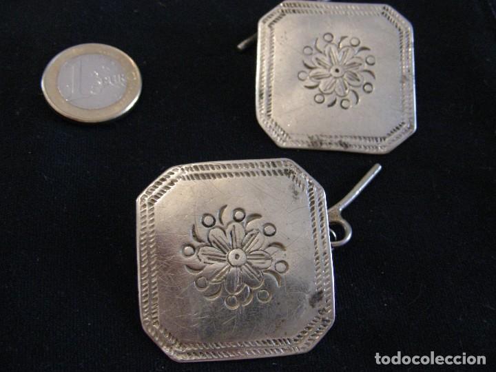 Antigüedades: GRANDES. BOTONES ANTIGUOS PLATA INDUMENTARIA UNIDAD - Foto 6 - 121280707