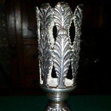 Antigüedades: PORTA CIRIO DE PLATA SIGLO XIX. Lote 121293591