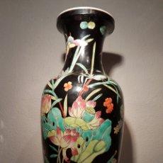 Antigüedades: JARRON DE PORCELANA CHINA FAMILIA NEGRA. Lote 121300231