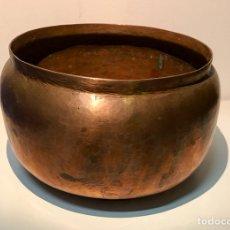 Antigüedades: MACETERO DE COBRE DE FINALES DEL SIGLO XIX. Lote 121324506