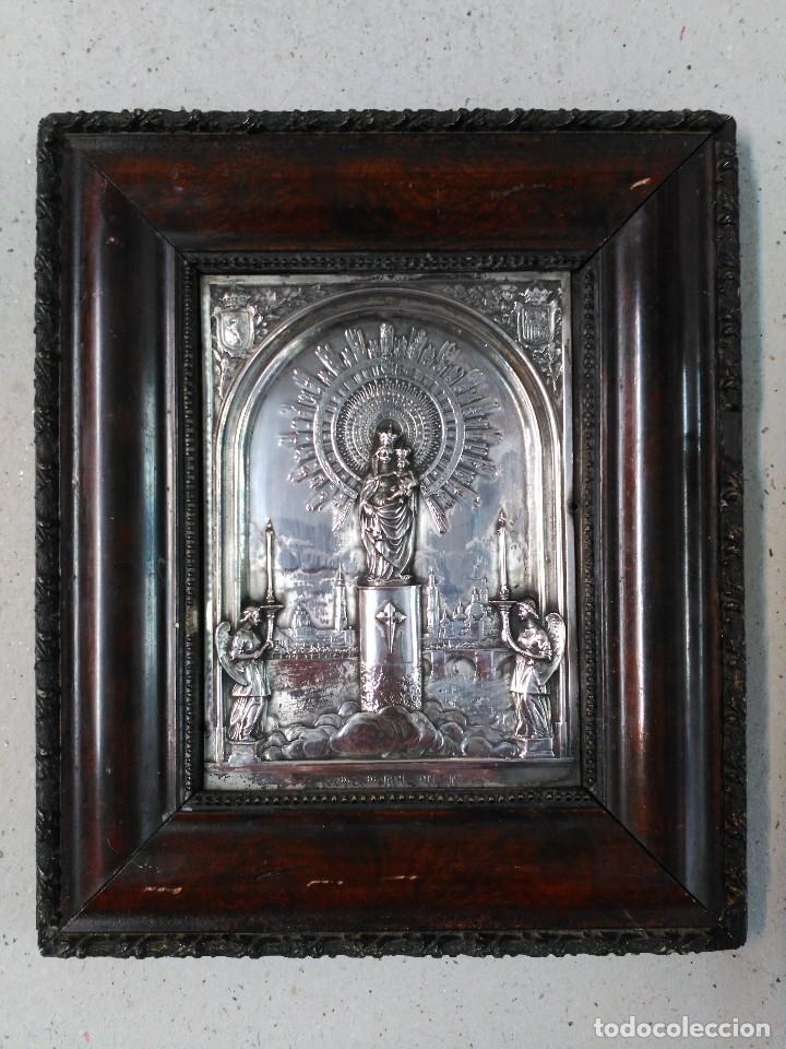 placa de nuestra señora del pilar, metal platea - Comprar Ornamentos ...