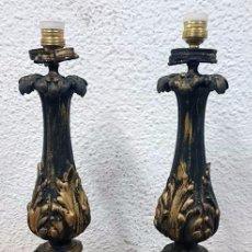 Antigüedades: ANTIGUOS CANDELABROS DE BRONCE ESTILO IMPERIO, ELECTRIFICADOS PARA LÁMPARA. SIGLO XIX. 55 CM ALTO.. Lote 121345183
