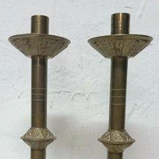 Antiques - Antiguo candelabro, aplique, hachero de iglesia de bronce. Siglo XIX. 35 cm de altura!!. LEER. - 121347987