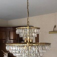 Antigüedades: LAMPARA CRISTAL EN PERFECTO ESTADO. Lote 121369168
