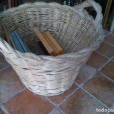 Antigüedades: CESTO DE MIMBRE . Lote 121384591