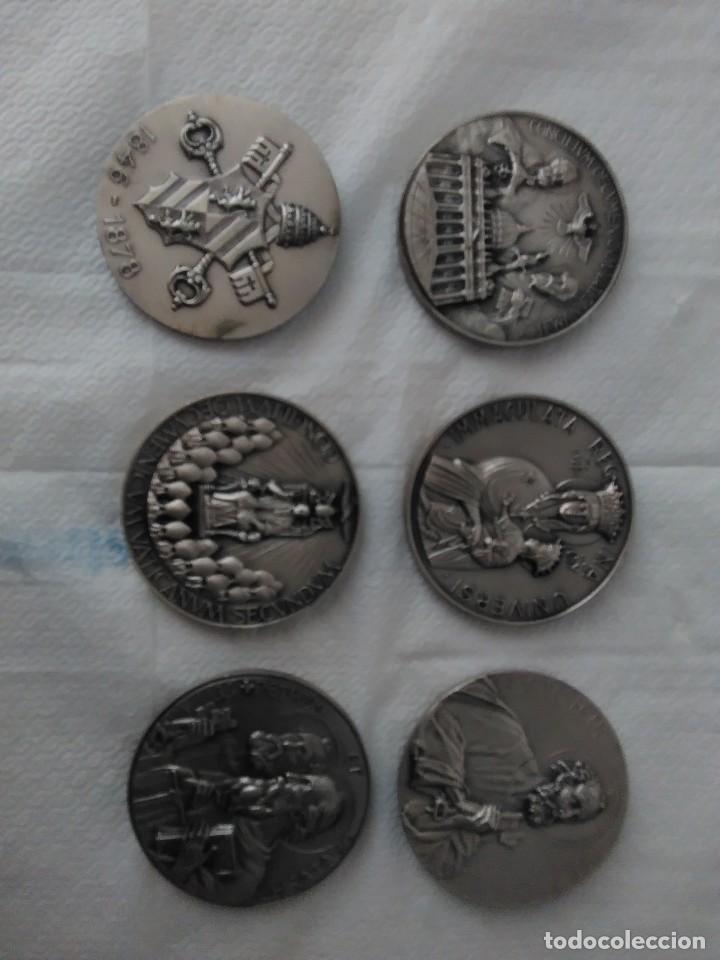 Antigüedades: Colección 6 medallas de papas - Foto 2 - 121401935