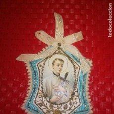 Antigüedades: SAN LUIS GONZAGA - PRECIOSO ESCAPULARIO PRIMERA MITAD SIGLO XX - BORDADO . Lote 121431815