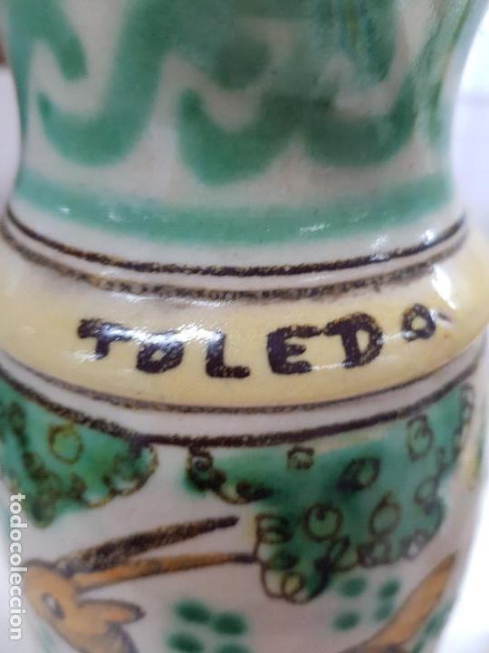 Antigüedades: JARRA CERAMICA TOLEDO MUY ANTIGUA PRINCIPIO DE SIGLO BONITOS COLORES - Foto 2 - 121465759