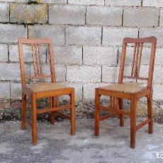 Antigüedades: PAREJA DE SILLAS ANTIGUAS ESTILO ART DECÓ ESTILO MODERNISTA SILLA ANTIGUA RETRO VINTAGE. Lote 121483267