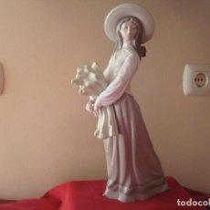 Antigüedades: CAMPESINA DE NAO LLADRO 40CM. Lote 121508867
