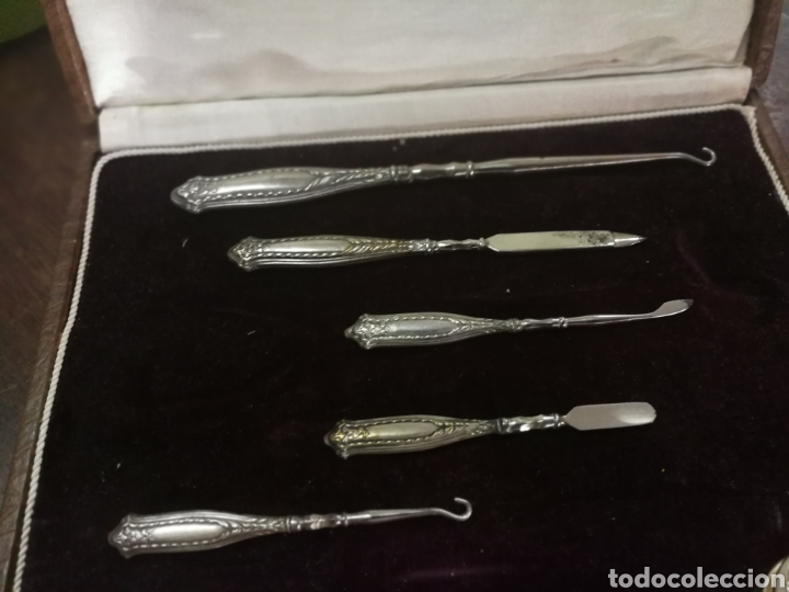 Antigüedades: ESTUCHE DE MANICURA DE PLATA SIGLO XIX - Foto 5 - 121517662