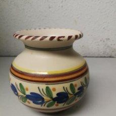 Antigüedades: PEQUEÑO JARRON JARRA DE TALAVERA SELLADA, ALTURA 11 CM. Lote 121518183