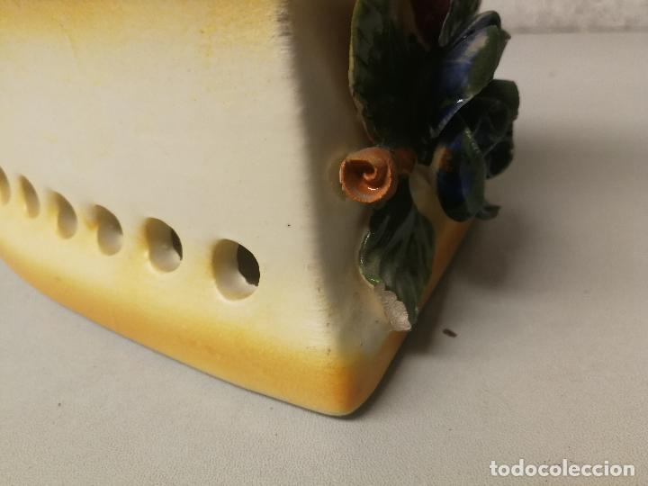 Antigüedades: PRECIOSA PLANCHA CERAMICA DE MANISES?? 20X18CM SELLADA EN BASE MADE IN SPAIN - Foto 4 - 121524059