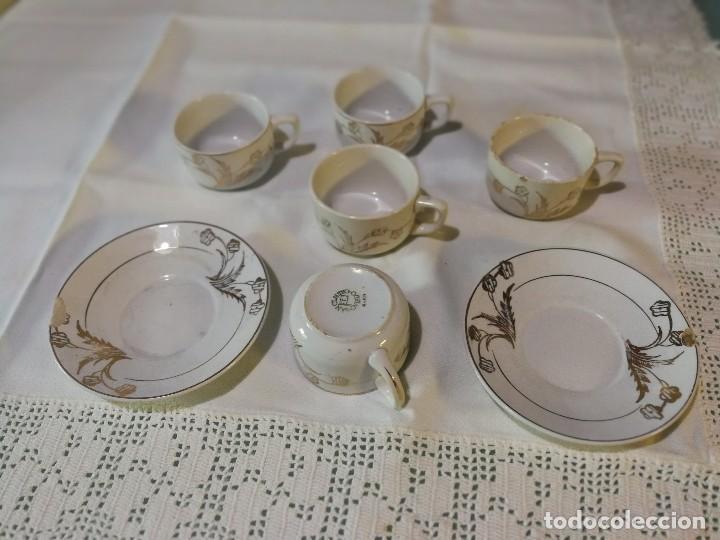 TAZAS DE CAFE SAN CLAUDIO (Antigüedades - Porcelanas y Cerámicas - San Claudio)