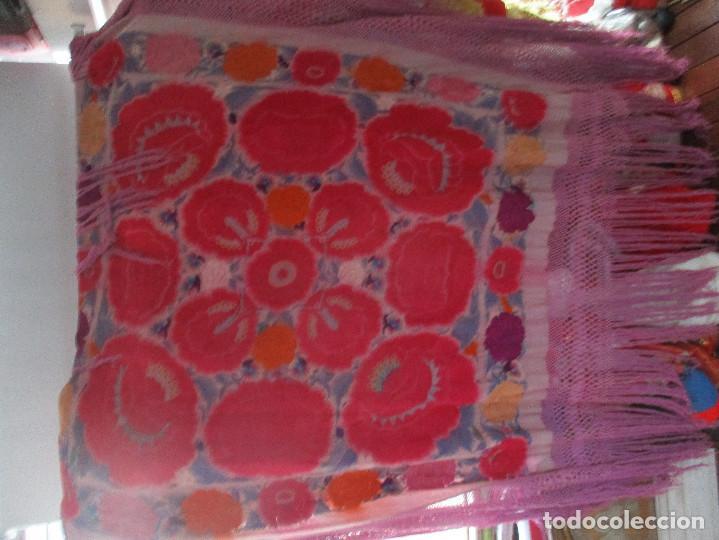 Antigüedades: Manton de manila - Foto 2 - 121561963