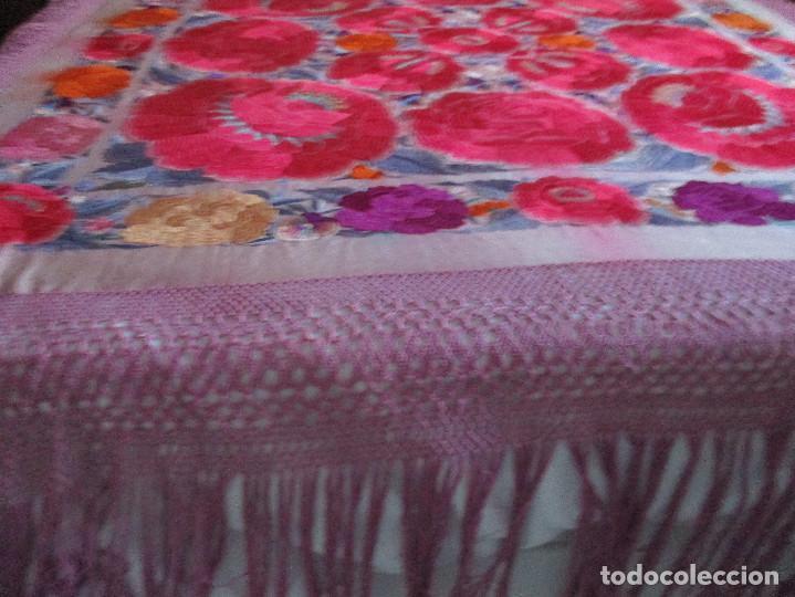 Antigüedades: Manton de manila - Foto 12 - 121561963