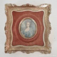 Antigüedades: BEAUTIFUL PORTRAIT MINIATURE OF A ROYAL LADY. Lote 121565291