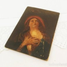 Antigüedades: ANTIQUE HAND PAINTED COPY OF ORIGINAL MARY MAGDALENE BY 17TH CENTURY ITALIAN ARTIST GUIDO RENI, OIL . Lote 121565355