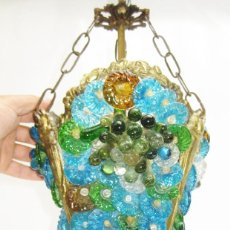 Antigüedades: ANTIQUE LAMP 1950S BY BAROVIER & TOSO MURANO VENETIAN GLASS , LAMPARA ANTIGUA VENECIANA. Lote 121567771