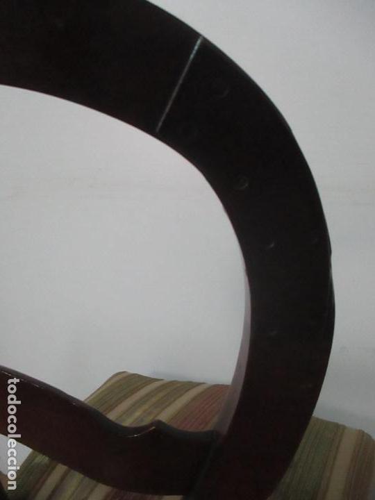 Antigüedades: 4 Sillas Isabelinas (Ditada) - Silla, Madera Jacarandá - Tapicería Correcta - S. XIX - Foto 11 - 121578827