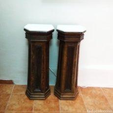 Antigüedades: PEANAS DE MADERA, SIGLO XIX. Lote 121586772