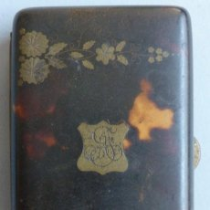 Antigüedades: ANTIGUA CAJA DE CAREY PARA CIGARROS S.XIX. Lote 121597343