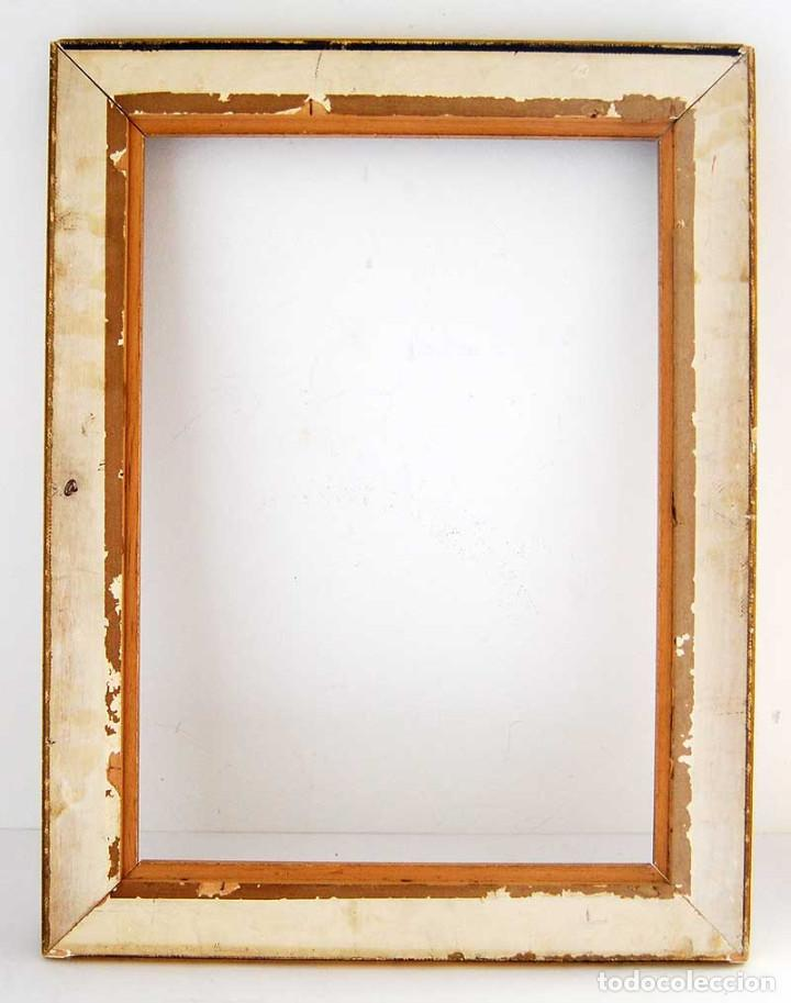 Antigüedades: Antiguo marco dorado de madera estucada S. XX - Foto 2 - 121600459