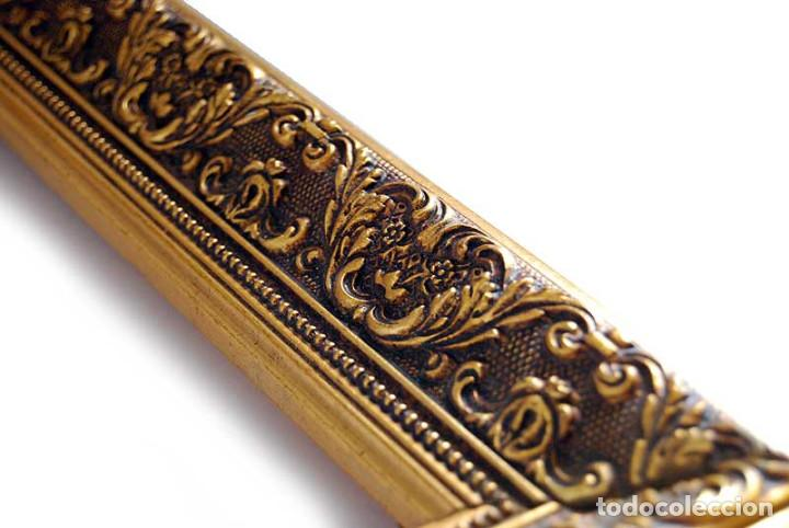Antigüedades: Antiguo marco dorado de madera estucada S. XX - Foto 3 - 121600459