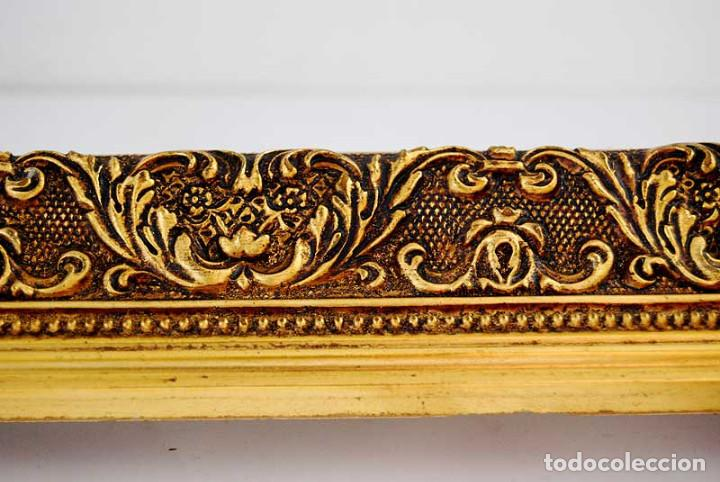 Antigüedades: Antiguo marco dorado de madera estucada S. XX - Foto 4 - 121600459