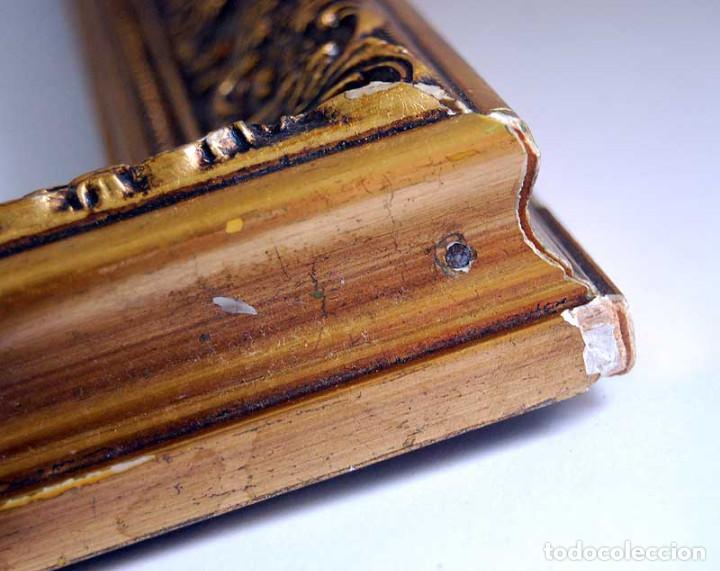 Antigüedades: Antiguo marco dorado de madera estucada S. XX - Foto 5 - 121600459