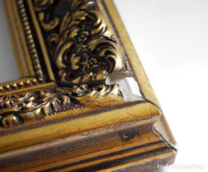 Antigüedades: Antiguo marco dorado de madera estucada S. XX - Foto 6 - 121600459