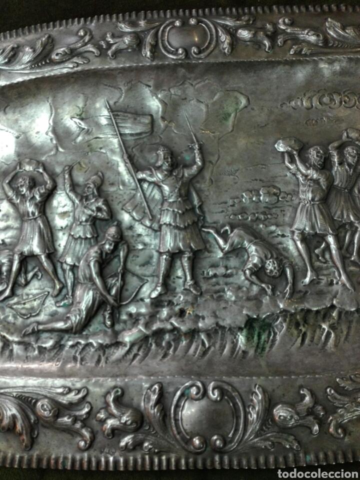 Antigüedades: Bandeja en plata de ley - Foto 3 - 121622811