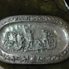 Antigüedades: BANDEJA EN PLATA DE LEY. Lote 121622811