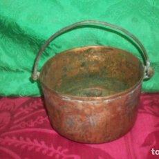 Antigüedades: ANTIGUO CALDERO EN COBRE. Lote 121634591