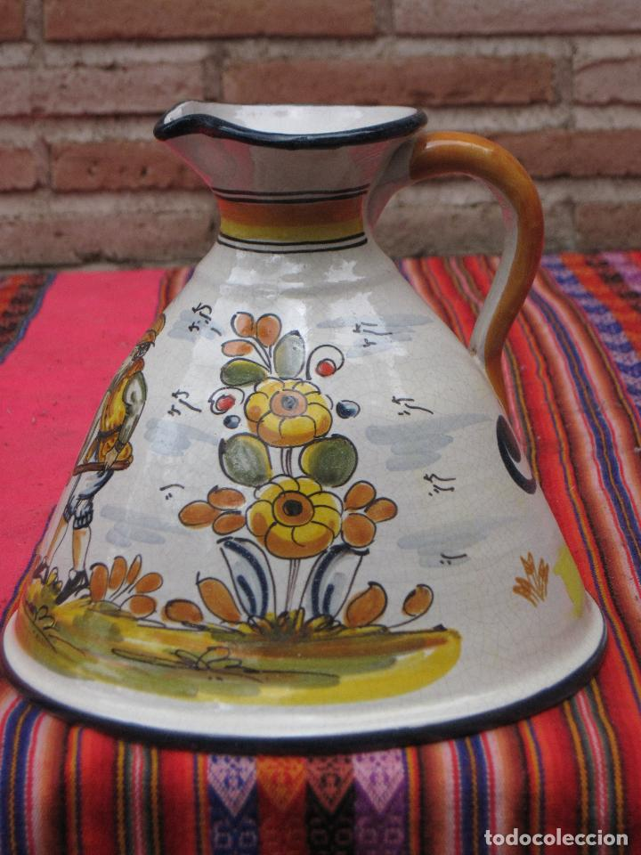 Antigüedades: JARRA EN CERAMICA PINTADA Y VIDRIADA - BASE MUY GRANDE - - Foto 2 - 153813349