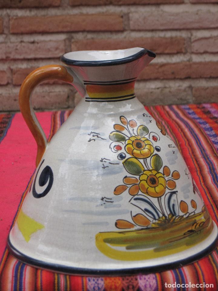 Antigüedades: JARRA EN CERAMICA PINTADA Y VIDRIADA - BASE MUY GRANDE - - Foto 3 - 153813349