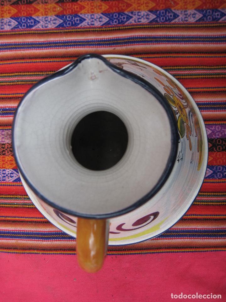 Antigüedades: JARRA EN CERAMICA PINTADA Y VIDRIADA - BASE MUY GRANDE - - Foto 5 - 153813349