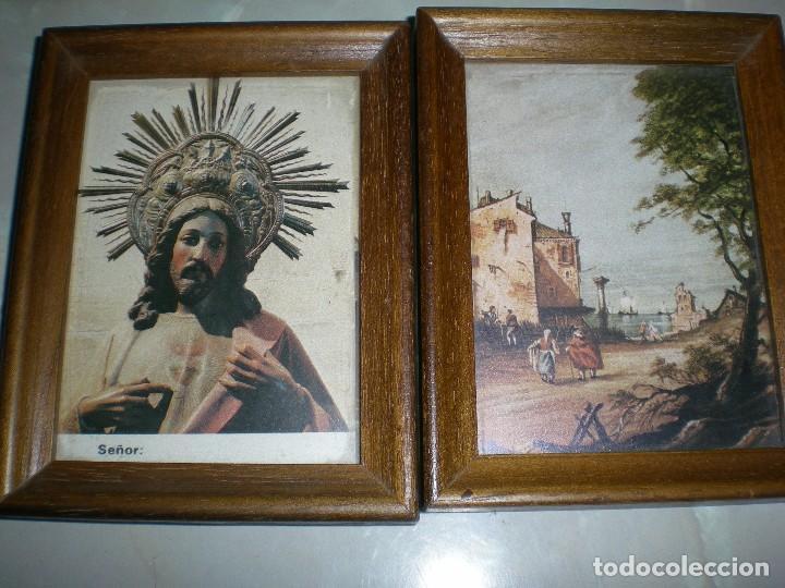 pareja de cuadros pequeños paisaje jesus sagrad - Comprar en ...