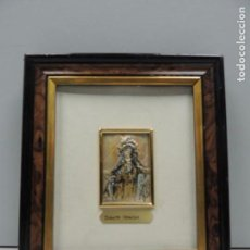 Antigüedades: ANTIGUO CUADRO IMAGEN DE SANTA TERESA PLATA 925 EXCELENTE OBJETO DE COLECCIÓN . Lote 121676987