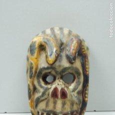Antigüedades: ANTIGUA MASCARA RITUAL AFRICANA TALLA DE MADERA - EXCELENTE DECORACIÓN DE PARED . Lote 121677275