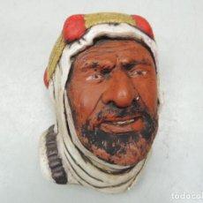 Antigüedades: ANTIGUA CARA DE HOMBRE ÁRABE - EXCELENTE DECORACIÓN DE PARED . Lote 121677359