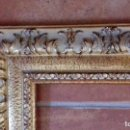 Antigüedades: MOLDURA DE LUJO. DORADA REPUJADA PAN DE ORO. PARA OBRA 46X38. F8. NUEVA.. Lote 127447131
