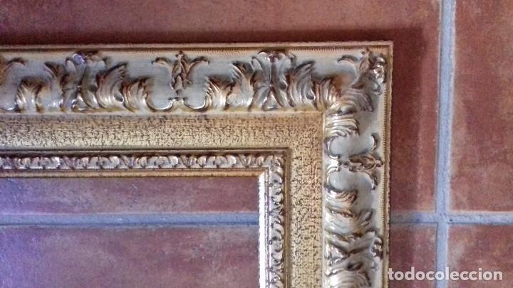 Antigüedades: MOLDURA DE LUJO. DORADA REPUJADA PAN DE ORO. PARA OBRA 46X38. F8. NUEVA. - Foto 5 - 127447131