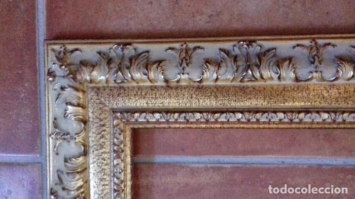 Antigüedades: MOLDURA DE LUJO. DORADA REPUJADA PAN DE ORO. PARA OBRA 46X38. F8. NUEVA. - Foto 6 - 127447131