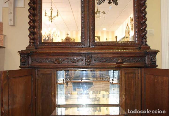 Antigüedades: ANTIGUO TRINCHERO APARADOR ESTILO ALFONSINO - Foto 12 - 121722579