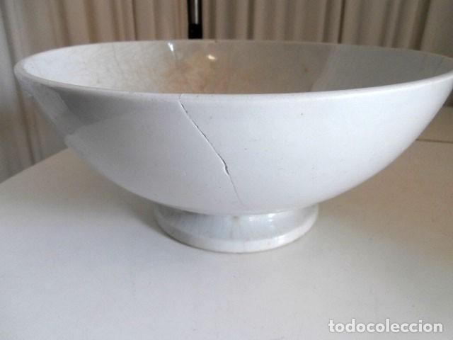 ANTIGUO BOL BLANCO DE CERAMICA PICKMAN LA CARTUJA CON SU SELLO ORIGINAL (Antigüedades - Porcelanas y Cerámicas - La Cartuja Pickman)