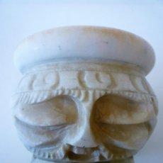 Antigüedades: ANTIGUO ALMIREZ DE ALABASTRO TALLADO DE COLECCION - MORTERO. Lote 121784795