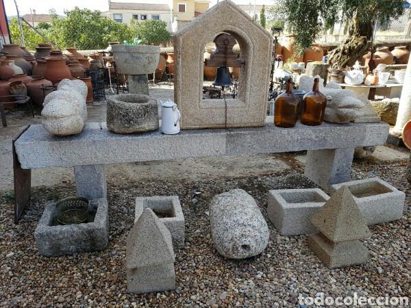 Antigüedades: banco piedra de granito pecho de paloma. varios. - Foto 9 - 118244674