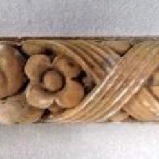 Antigüedades: ANTIGUA MOLDURA DE ESCAYOLA CON MOTIVOS VEGETALES. VER FOTOS. Lote 121819731